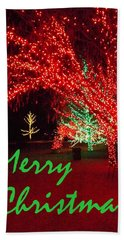 Beach Sheet featuring the photograph Merry Christmas by Darren Robinson