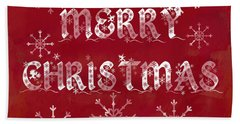Beach Towel featuring the painting Merry Christmas by Jocelyn Friis