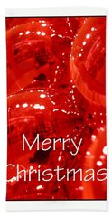 Merry Christmas Red 5607 Beach Towel