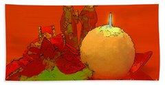 Merry Christmas Beach Sheet by Teresa Zieba