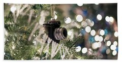 Merry Xmas Shutterbugs Beach Towel by Edward Kreis