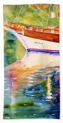 Merve II Gulet Yacht Reflections Beach Towel