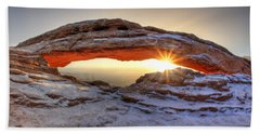 Mesa Sunburst Beach Towel by David Andersen