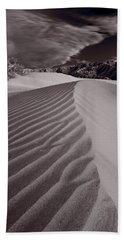 Mesquite Dunes Death Valley B W Beach Towel