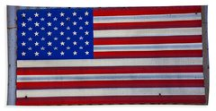 Metal American Flag Beach Towel