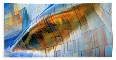 Beach Towel featuring the photograph Metal Wave by Chris Anderson