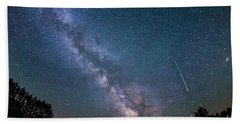 Meteor Milky Way  Beach Towel
