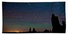 Meteors Over Mono Lake Beach Towel