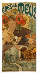 Meuse Beer Beach Towel by Alphonse Marie Mucha