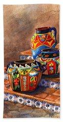 Mexican Pottery Still Life Beach Sheet