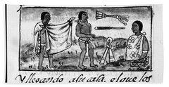 Mexico Aztec Daily Life Beach Towel