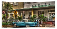 Beach Towel featuring the photograph Miami Beach Art Deco 1 by Timothy Lowry