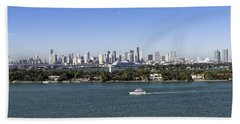 Miami Daytime Panorama Beach Towel