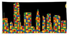 Miami Skyline 3 Beach Towel