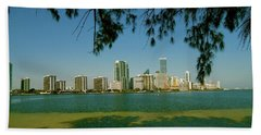 Miami Skyline Beach Towel