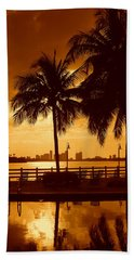 Miami South Beach Romance II Beach Towel