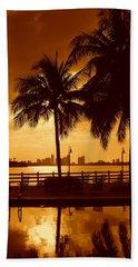 Miami South Beach Romance II Beach Sheet