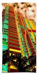 Miami South Pointe II Highrise Beach Towel