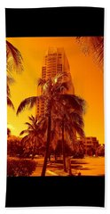 Miami South Pointe Iv Beach Towel
