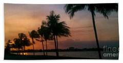 Miami Sunset Beach Towel