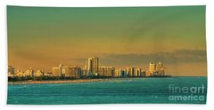 Miami Sunset Beach Towel by Olga Hamilton