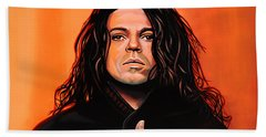 Michael Hutchence Painting Beach Towel