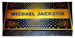 Michael Jackson Apollo Walk Of Fame Beach Towel by Ed Weidman