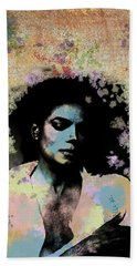 Michael Jackson - Scatter Watercolor Beach Towel