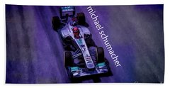 Michael Schumacher Beach Towel by Marvin Spates
