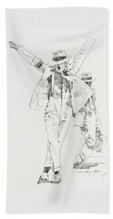 Michael Smooth Criminal Beach Towel