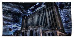 Michigan Central Station Hdr Beach Towel