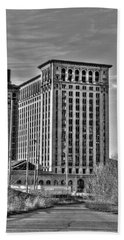 Michigan Central Station Beach Towel by Nicholas  Grunas