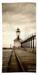 Michigan City Lighthouse Beach Towel