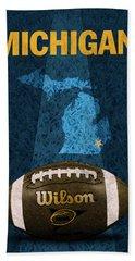 Michigan Football Poster Beach Towel