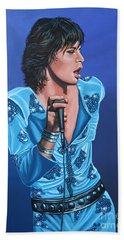 Mick Jagger Beach Towel by Paul Meijering