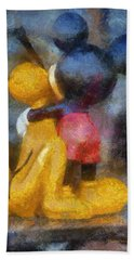 Mickey Mouse Photo Art Beach Towel by Thomas Woolworth