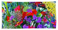 Mid August Bouquet Beach Towel