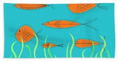 Mid Century Fish 2 Beach Sheet