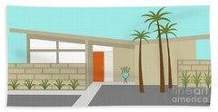 Mid Century Modern House 1 Beach Sheet
