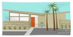Mid Century Modern House 1 Beach Towel