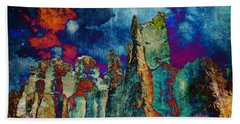 Midnight Fires Beach Towel by Meghan at FireBonnet Art
