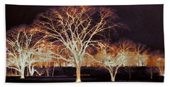 Beach Towel featuring the photograph Midnight Glow by Shawna Rowe