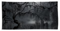 Midnight In The Graveyard  Beach Towel