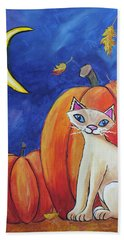 Midnight In The Pumpkin Patch Beach Towel