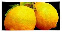 Midnight Lemons Beach Towel