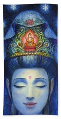 Midnight Meditation Kuan Yin Beach Towel