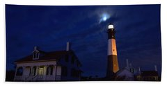 Midnight Moon Over Tybee Island Beach Towel