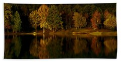Midnight On The Lake Beach Towel by Linda Unger