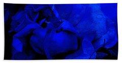 Midnight Rose Beach Towel by Sami Martin