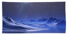 Midnight Snow Beach Sheet